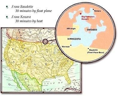Map Of Kenora Canada.Canada Fishing Canadian Fishing Resort For Walleye Muskie Pike